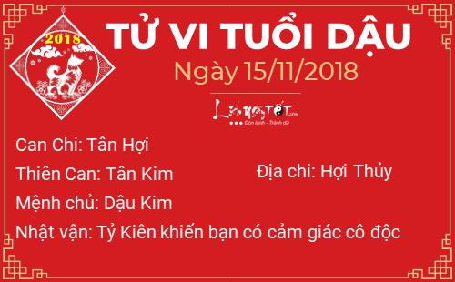 Phong thuy hang ngay - Phong thuy ngay 15112018 - Tuoi Dau