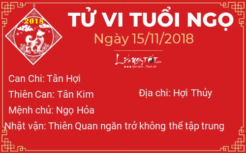 Phong thuy hang ngay - Phong thuy ngay 15112018 - Tuoi Ngo