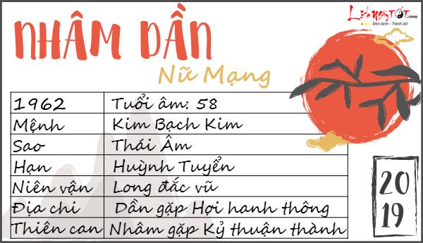 Chi tiet tu vi tuoi Nham Dan nu mang nam 2019