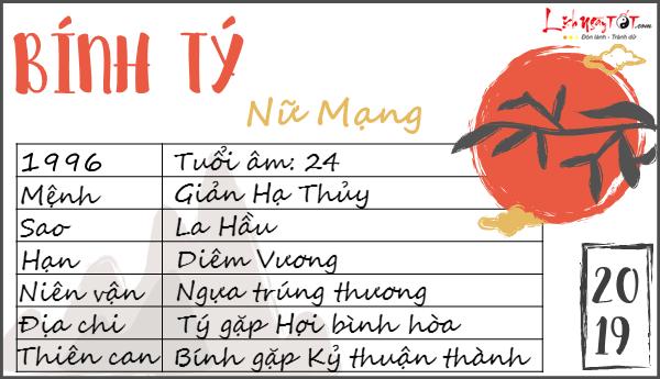 Tu vi tuoi Binh Ty 2019 nu mang