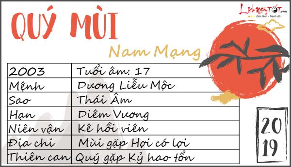 Tu vi 2019 tuoi Quy Mui nam mang