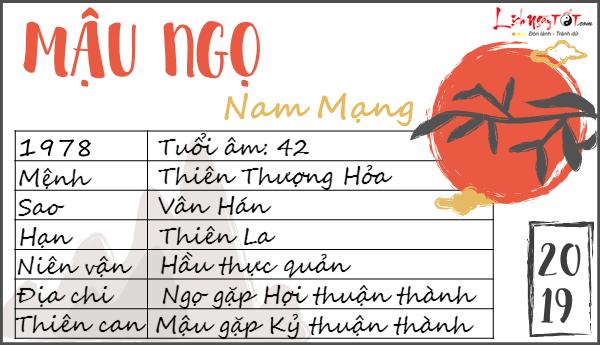 Tu vi 2019 tuoi Mau Ngo nam mang