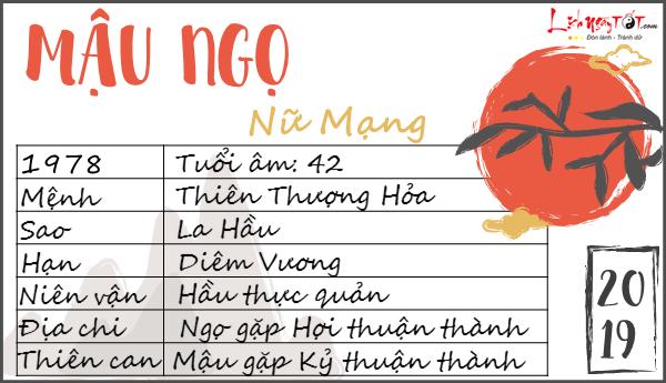 Tu vi 2019 tuoi Mau Ngo nu mang