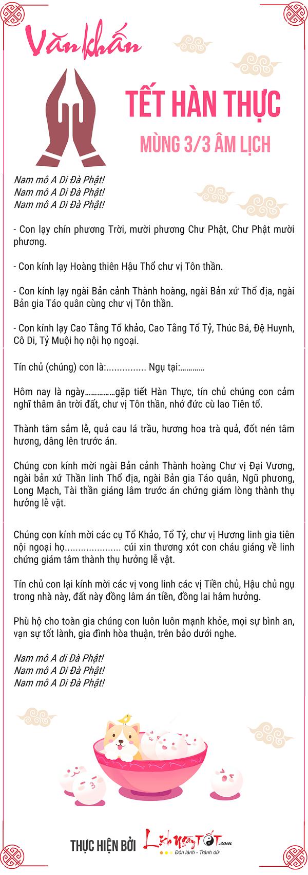 Bai khan tet Han Thuc mung 3 thang 3