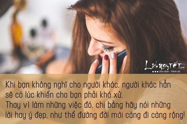 Phong thuy cho co the, mieng noi loi hay y dep de hanh phuc