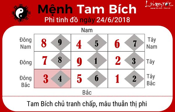 Xem phong thuy ngay 2462018 menh Tam Bich