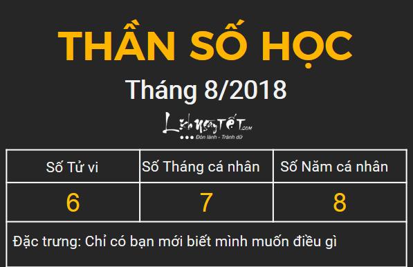 6xem boi ngay sinh bang Than so hoc thang 6.2018 so 6