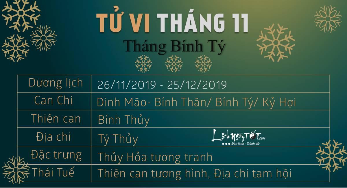 Tu vi thang 11 Binh Ty 12 con giap