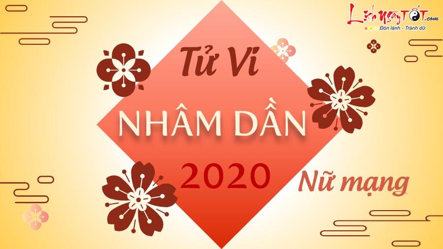 Tu vi 2020 Nham Dan nu mang
