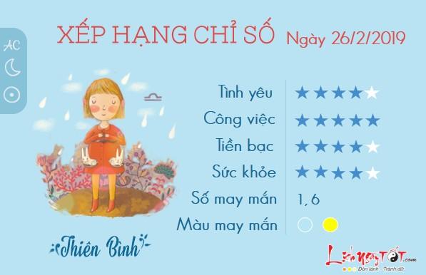 Tu vi 12 cung hoang dao - tu vi ngay 2622019 - Thien Binh