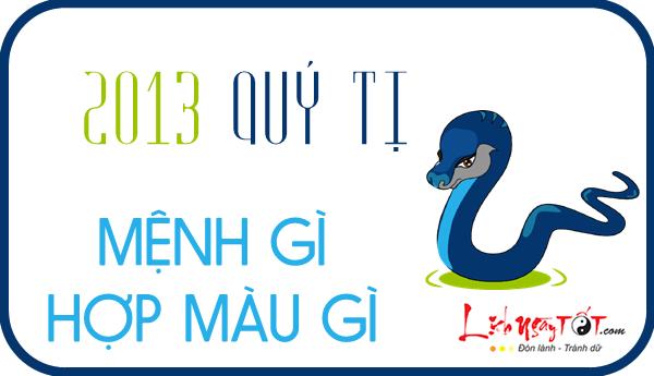 Sinh nam 2013 menh gi, tuoi Quy Ti