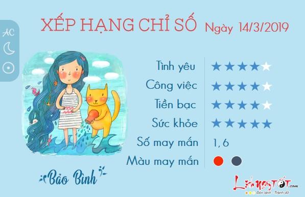 Tu vi hang ngay-tu vi thu 5 ngay 14032019 cua Bao Binh