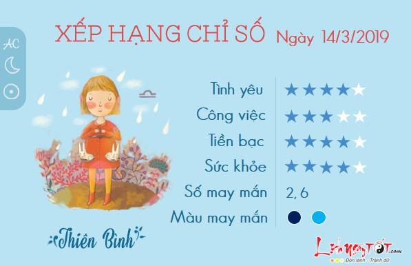 Tu vi hang ngay-tu vi thu 5 ngay 14032019 cua Thien Binh