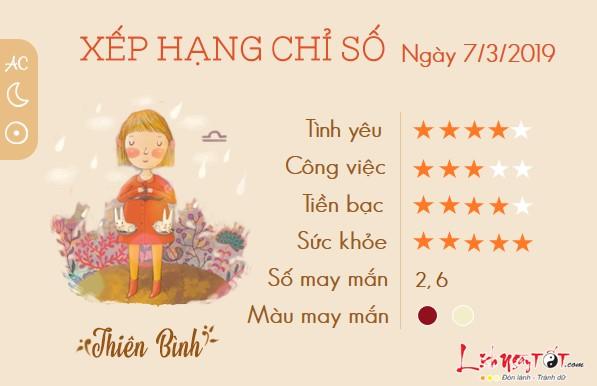 Tu vi hang ngay-tu vi ngay 732019 cung Thien Binh