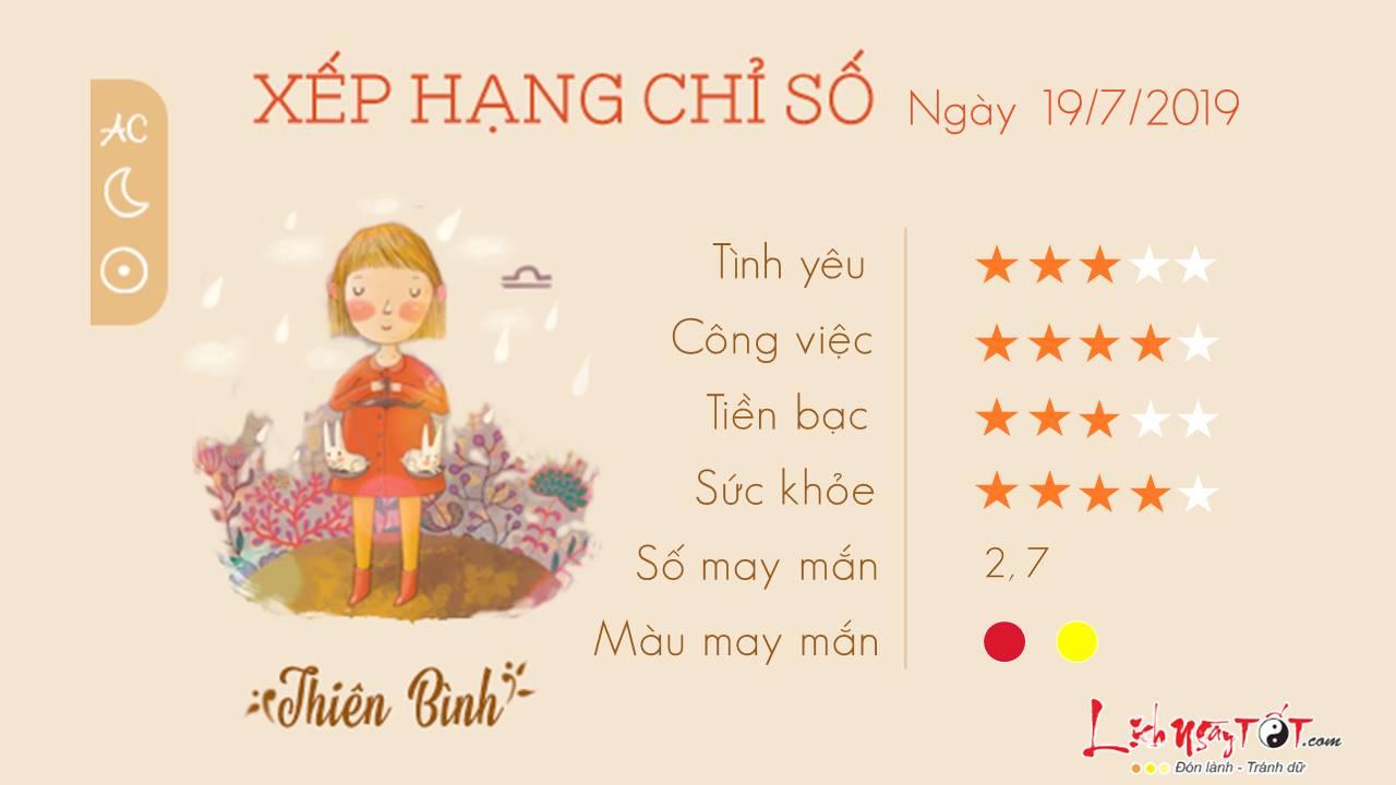Tu vi 12 cung hoang dao - Tu vi ngay 19072019 - Thien Binh