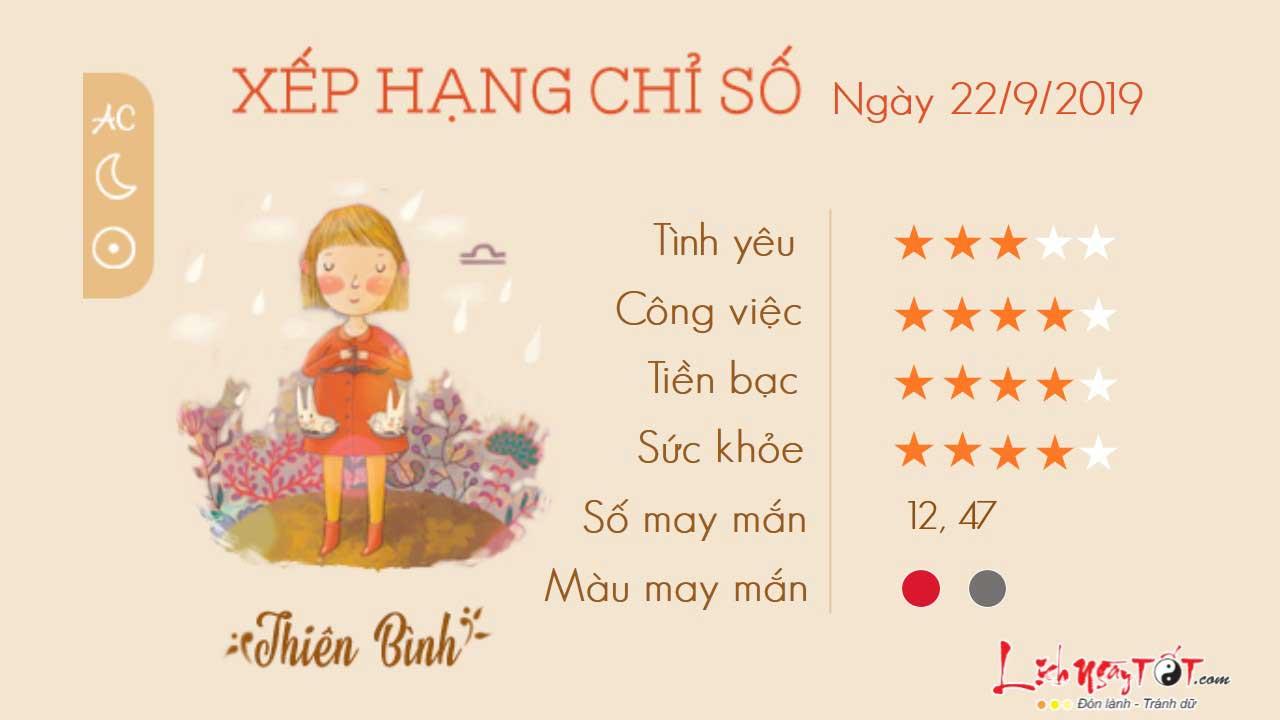 Tu vi 12 cung hoang dao ngay 2292019 - Thien Binh