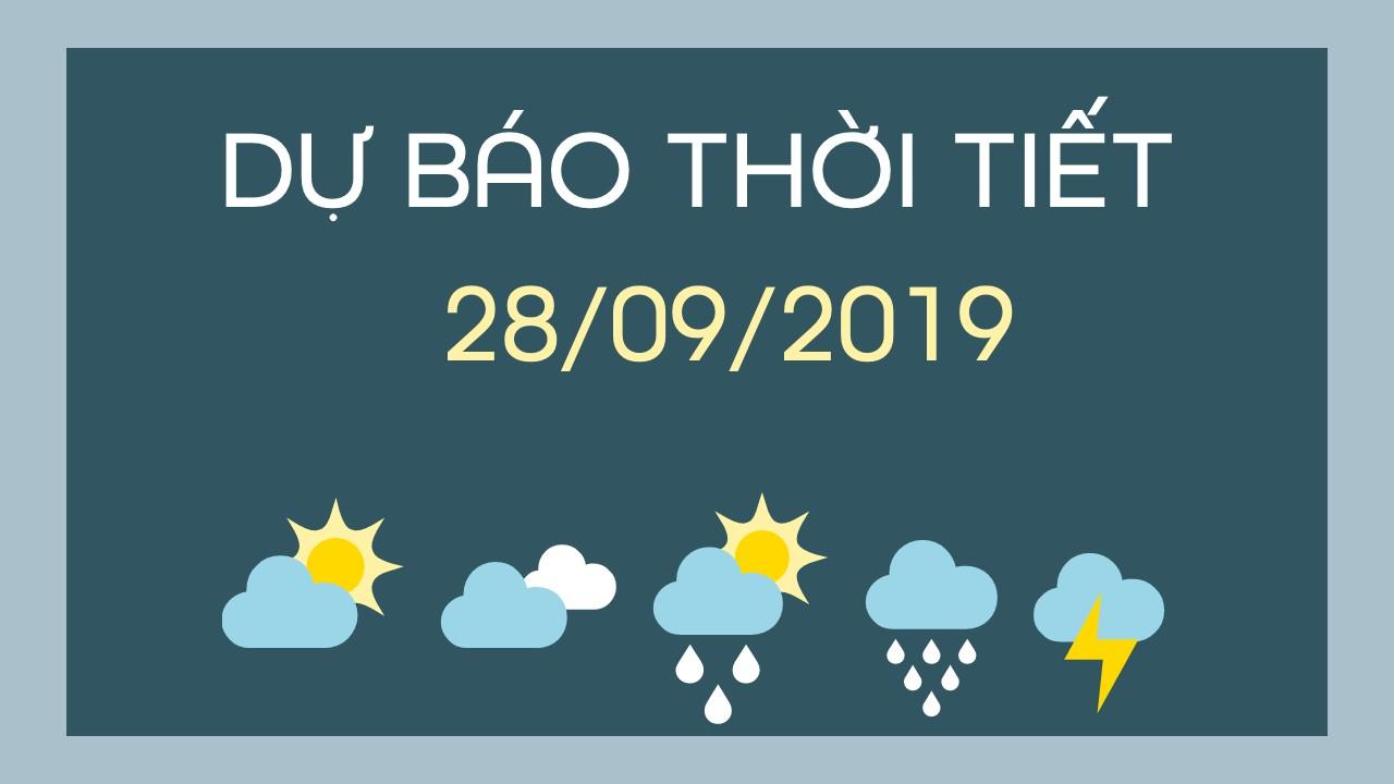 DU BAO THOI TIET 28092019