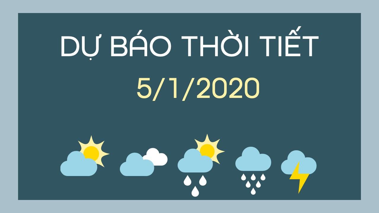 DU BAO THOI TIET 05012020