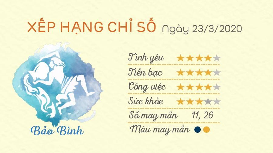 Tu vi thu 2 ngay 24032020 - Bao Binh