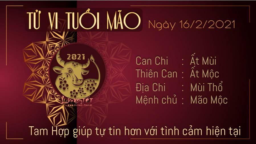 Tu vi hang ngay 16022021 - Tuoi Mao