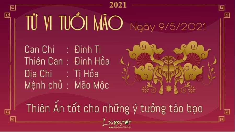 Tu vi hang ngay 9-5-2021- tuoi Mao