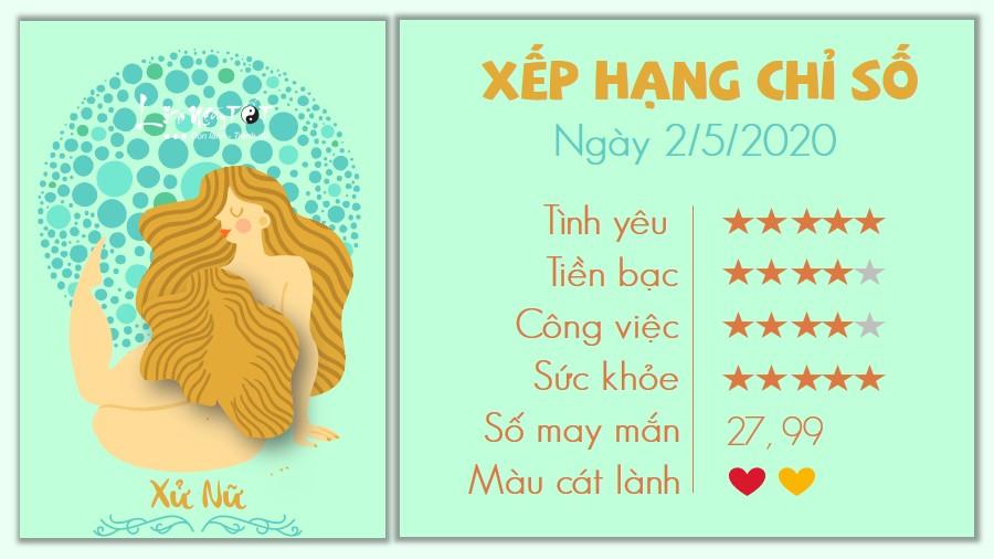 6 Tu vi hang ngay 2-5-2021 Xu Nu