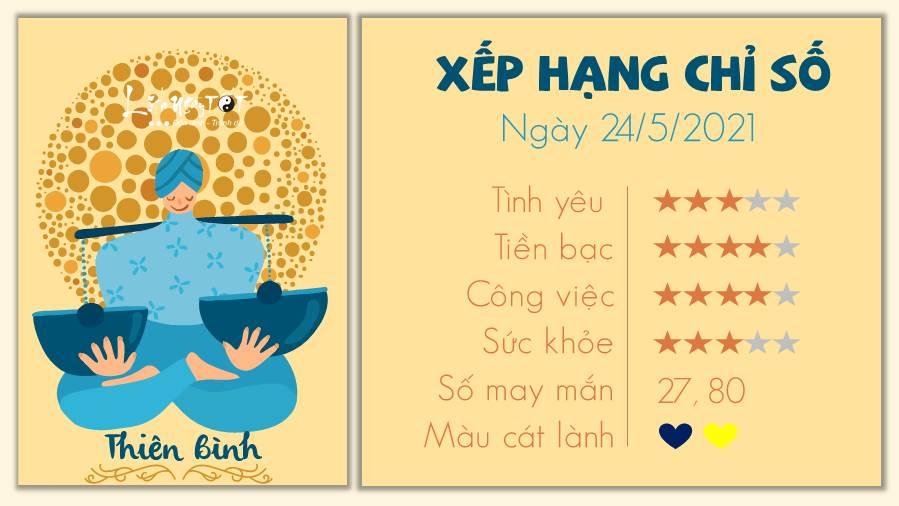 Tu vi hang ngay 2452021 - Thien Binh