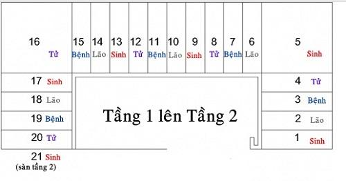 Phuong phap chon dung bac cau thang Sinh, tranh bac Lao, Benh, Tu hinh anh 2