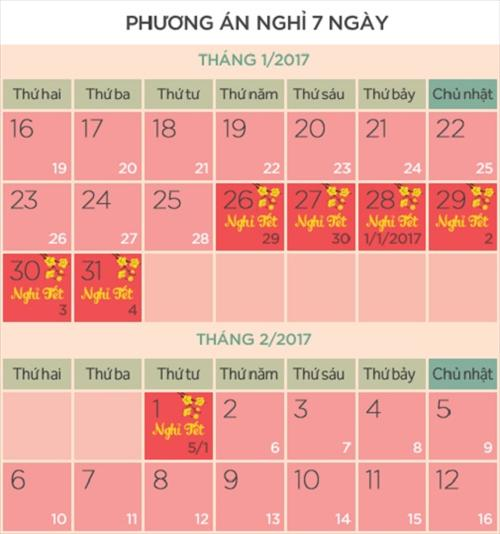 Da co quyet dinh cua Bo Noi vu ve lich nghi Tet 2017 hinh anh goc