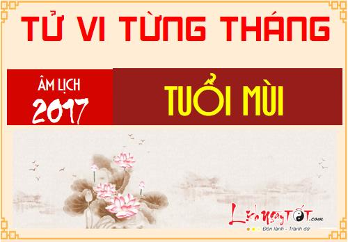 Tu vi thang Tong quan tu vi 12 thang nam Dinh Dau 2017 tuoi Mui hinh anh