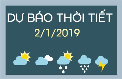 Dự báo thời tiết hôm nay 2/1: Miền Bắc nhiệt độ tăng dần, miền Trung có nơi mưa rất to và dông