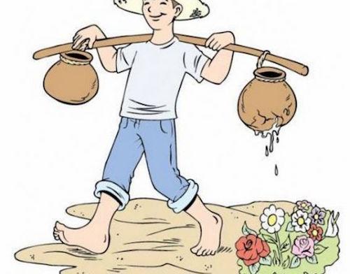 Người gánh nước và chiếc bình vỡ