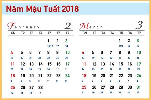tra lich xem ngay tam nuong nam 2018