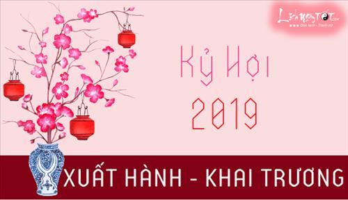 Xem ngày tốt KHAI TRƯƠNG, MỞ HÀNG, XUẤT HÀNH, hướng tốt xuất hành đầu năm 2019