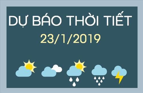 Dự báo thời tiết 23/1: Miền Bắc trưa chiều trời nắng, miền Trung có mưa lớn