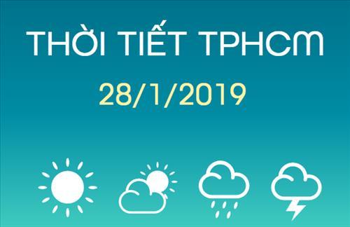 Dự báo thời tiết TPHCM 28/1: Ban ngày trời nắng nóng, tối chuyển nhiều mây