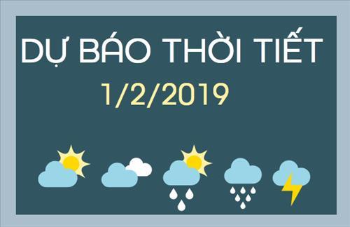 Dự báo thời tiết 1/2: Miền Bắc có mưa vài nơi, miền Nam không mưa