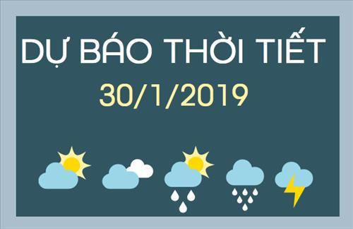 Dự báo thời tiết 30/1: Thời tiết cả nước tạnh ráo, có nắng vào ban ngày
