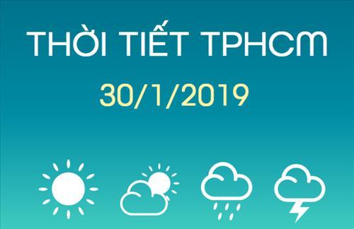 Dự báo thời tiết TPHCM 30/1: Nắng gắt, nhiệt độ tăng nhanh vào ban ngày