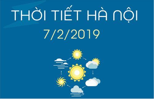 Dự báo thời tiết Hà Nội 7/2: Nhiệt độ cao nhất 26 độ C