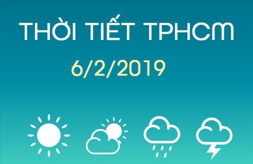 Dự báo thời tiết TPHCM 6/2: Mùng 2 Tết trời quang mây, nắng nhiều