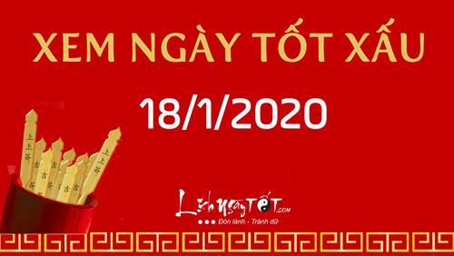 Xem ngày tốt xấu hôm nay Thứ 7 ngày 18/1/2020 - Lịch âm 24/12/2019