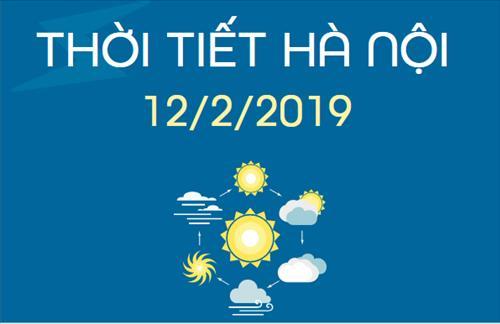 Dự báo thời tiết Hà Nội 12/2: Mưa phùn rải rác, trời rét