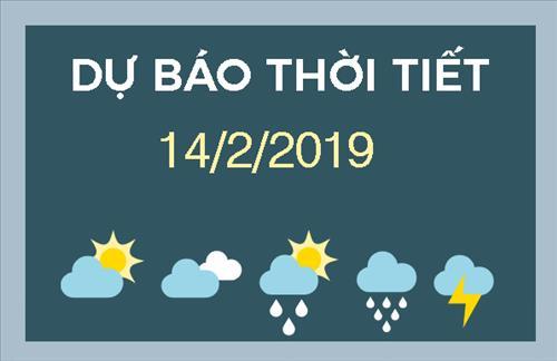 Dự báo thời tiết 14/2: Miền Bắc đón ngày vía Thần Tài và Valentine trong tiết trời se lạnh