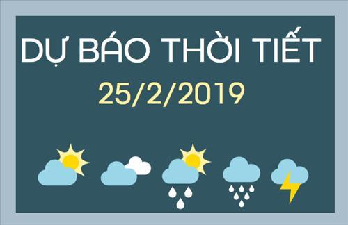 Dự báo thời tiết 25/2: Miền Bắc trời còn rét, miền Nam mưa về đêm