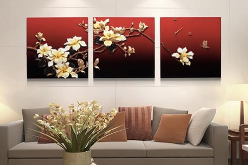 tranh treo tuong mau do theo phong thuy phi tinh 2019 hoa giai tam bich