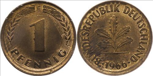 1 pfennig Duc