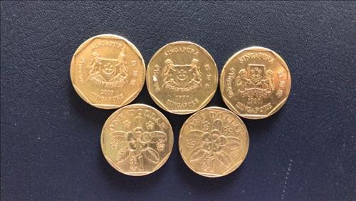 dong 1 xu Singapore mang lai may man