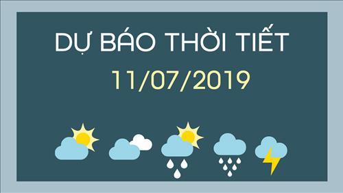 Dự báo thời tiết 11/7: Ngày nắng, chiều tối mưa dông