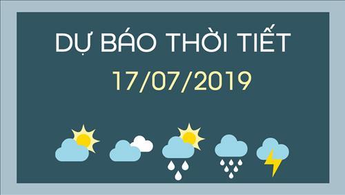 Dự báo thời tiết 17/7: Vùng biển Đông Bắc Biển Đông có mưa to, gió mạnh do ảnh hưởng của bão số 3